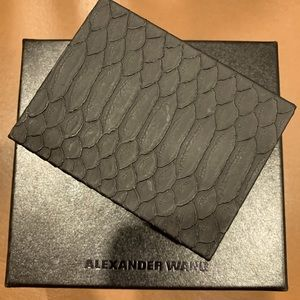 🆕Alexander Wang Playing Cards, Croc Embossed Case
